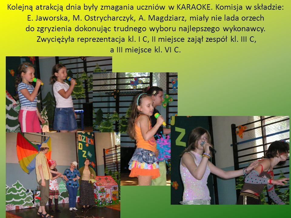 Kolejną atrakcją dnia były zmagania uczniów w KARAOKE