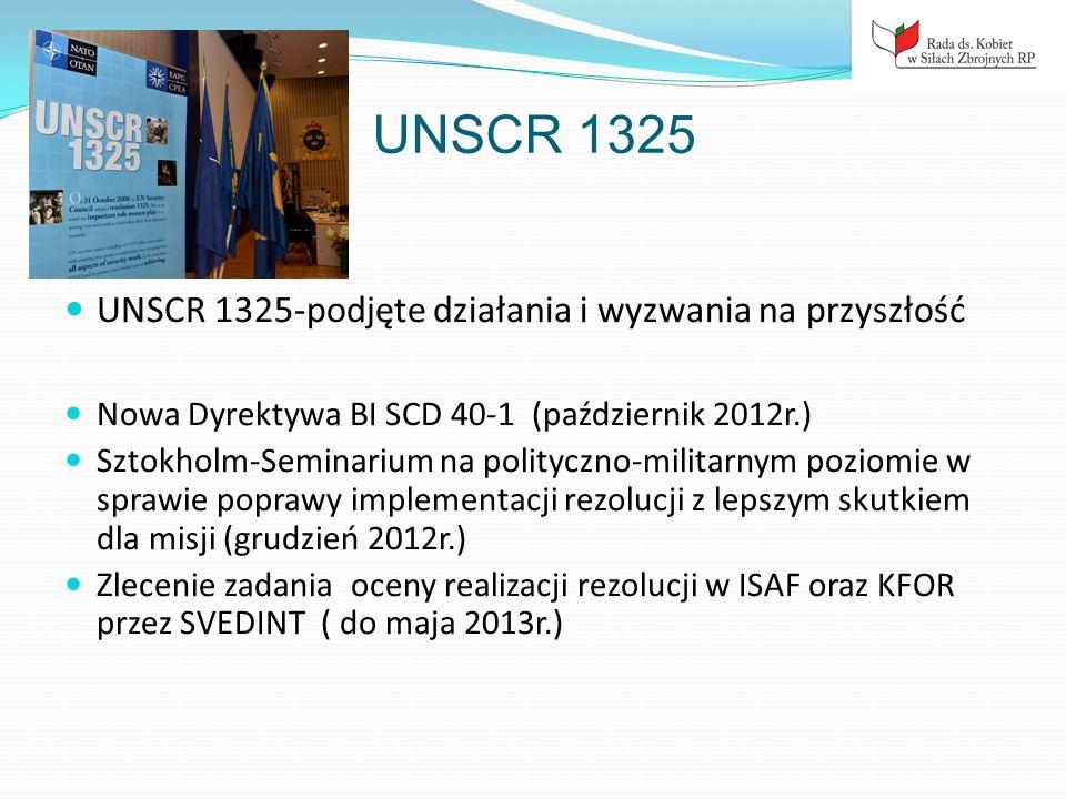 UNSCR 1325 UNSCR 1325-podjęte działania i wyzwania na przyszłość
