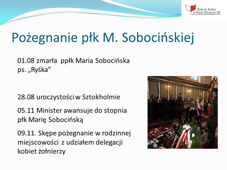 Pożegnanie płk M. Sobocińskiej