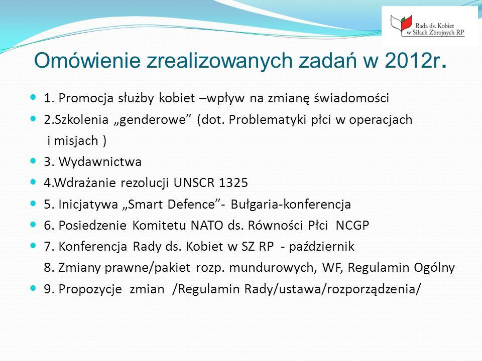 Omówienie zrealizowanych zadań w 2012r.