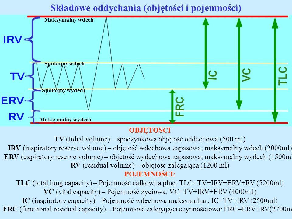 Składowe oddychania (objętości i pojemności)