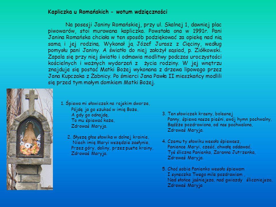 Kapliczka u Romańskich - wotum wdzięczności