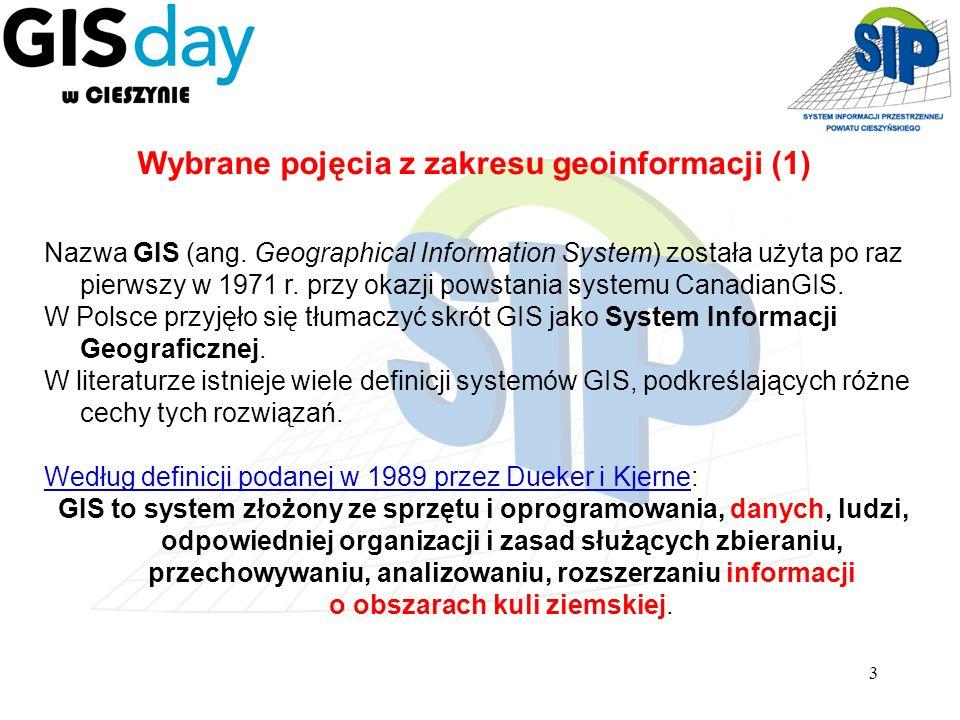 Wybrane pojęcia z zakresu geoinformacji (1)