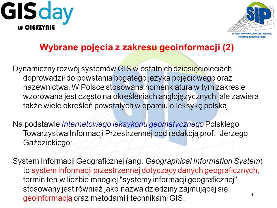 Wybrane pojęcia z zakresu geoinformacji (2)