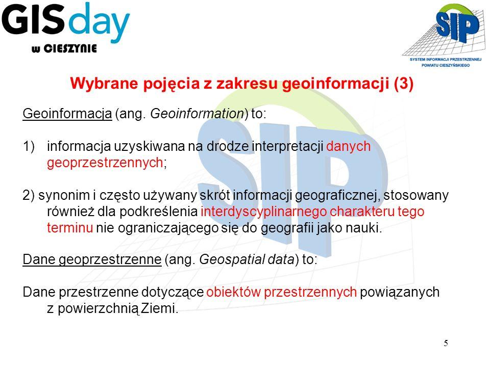 Wybrane pojęcia z zakresu geoinformacji (3)