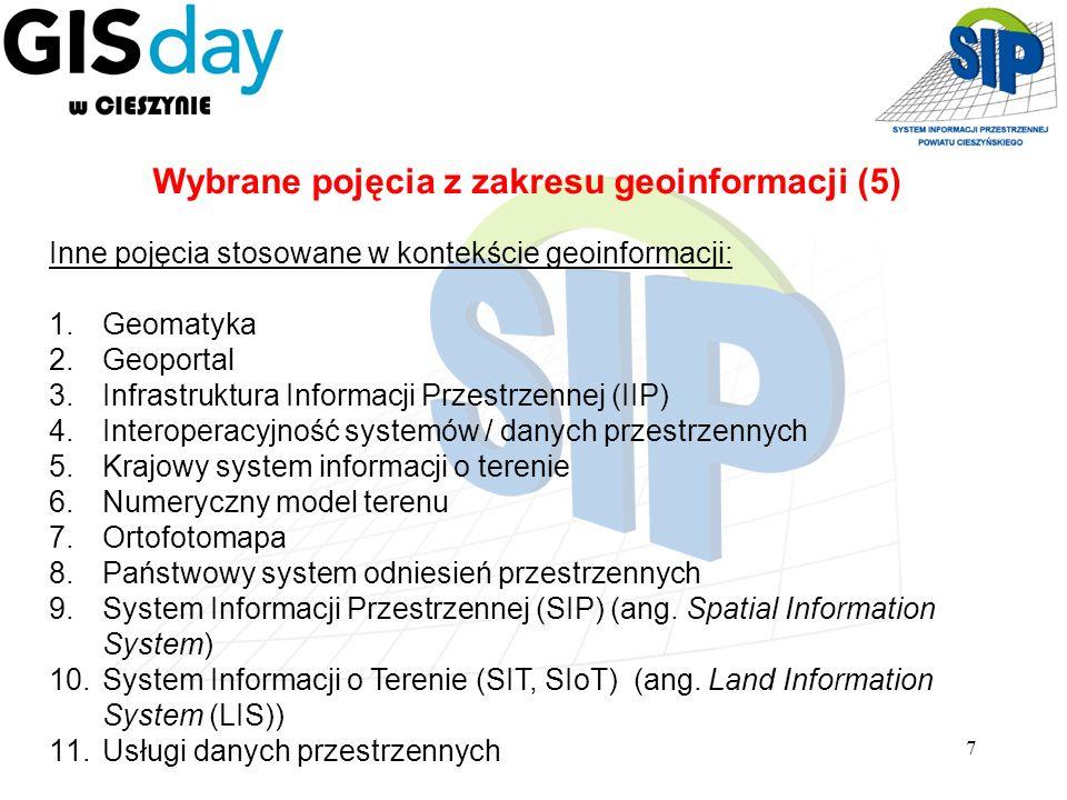 Wybrane pojęcia z zakresu geoinformacji (5)