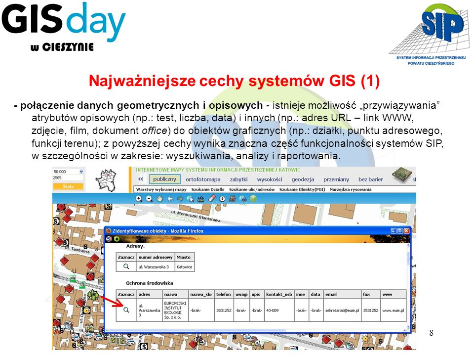 Najważniejsze cechy systemów GIS (1)