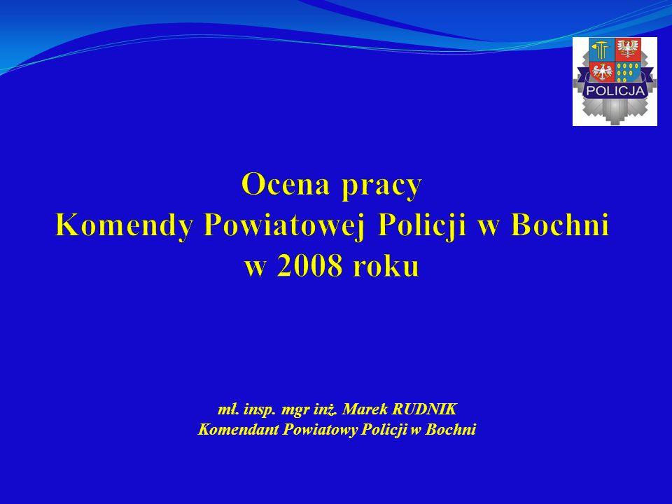 Ocena pracy Komendy Powiatowej Policji w Bochni w 2008 roku