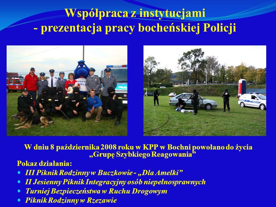 Współpraca z instytucjami - prezentacja pracy bocheńskiej Policji