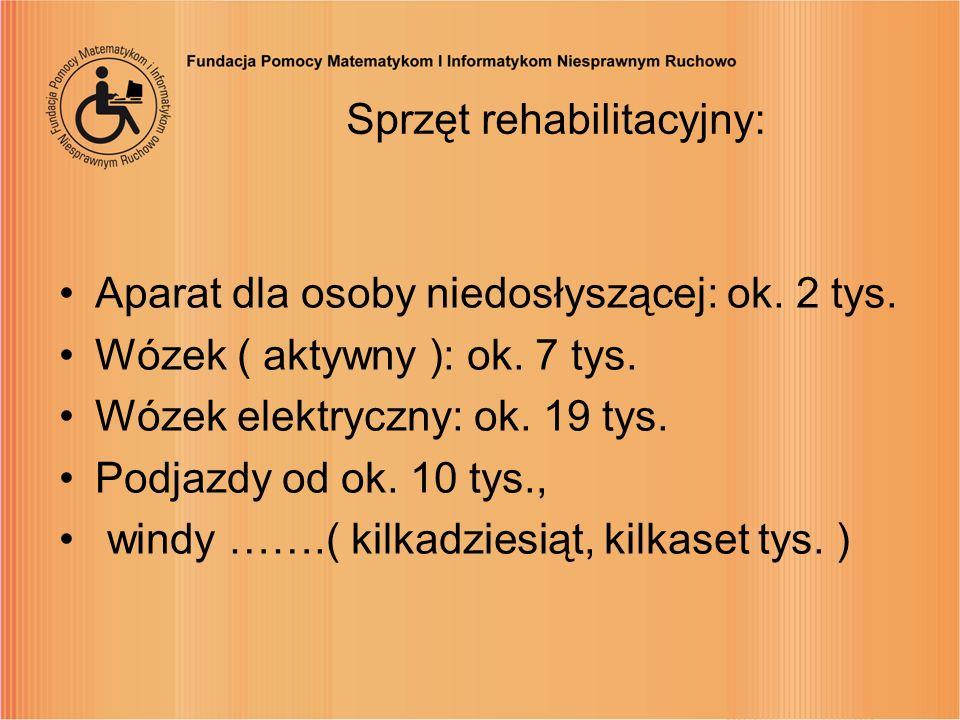 Sprzęt rehabilitacyjny: