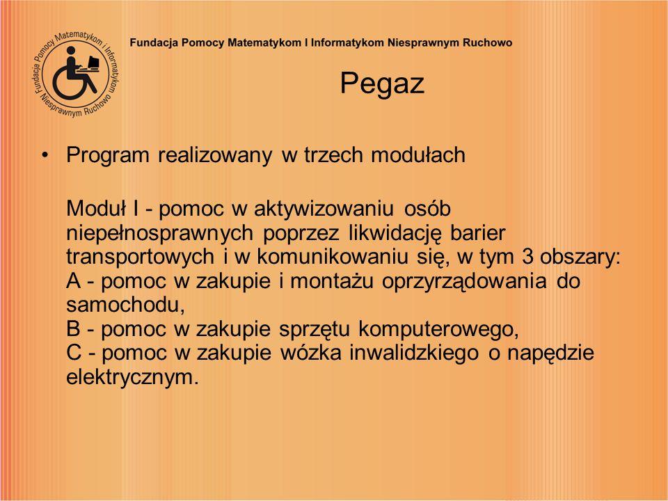 Pegaz Program realizowany w trzech modułach