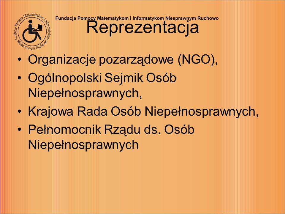 Reprezentacja Organizacje pozarządowe (NGO),