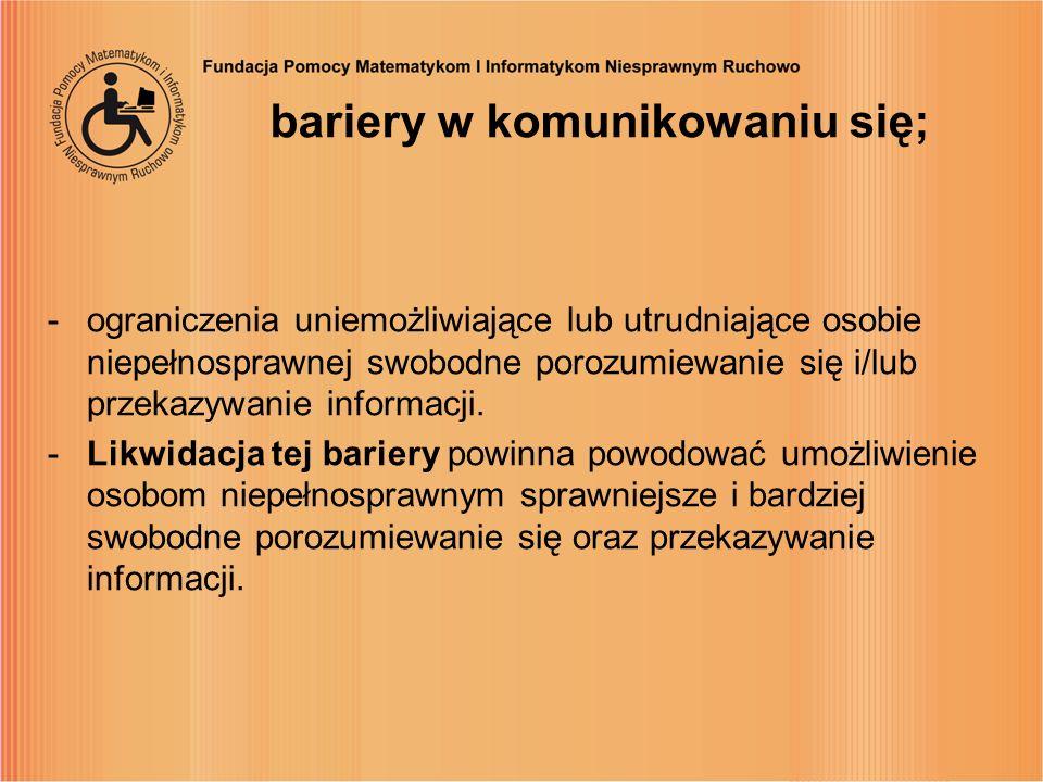 bariery w komunikowaniu się;
