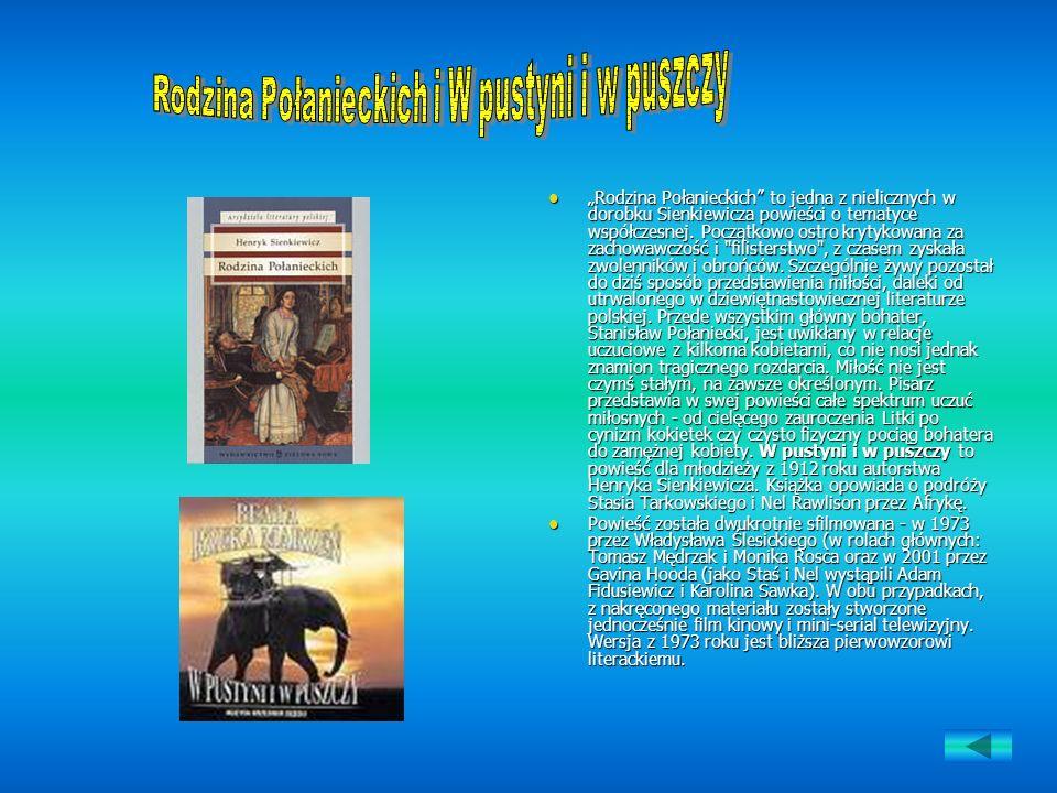 Rodzina Połanieckich i W pustyni i w puszczy