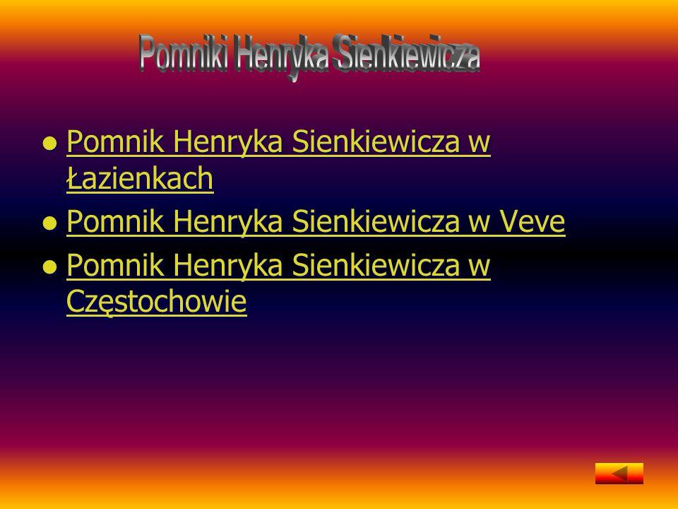 Pomniki Henryka Sienkiewicza