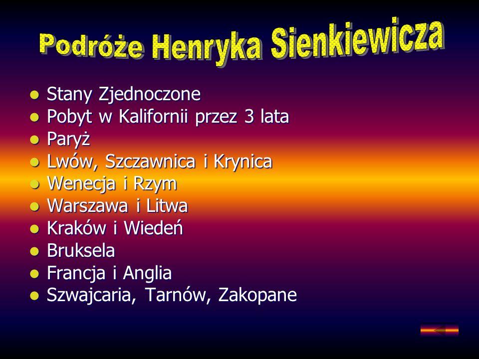 Podróże Henryka Sienkiewicza
