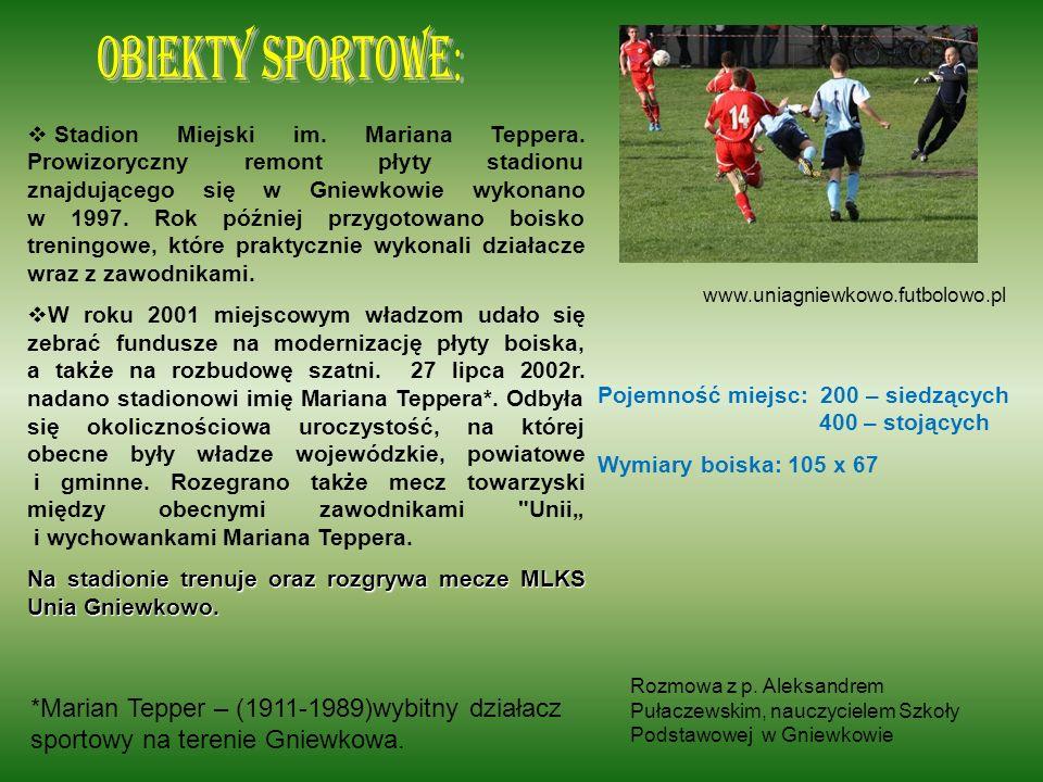 Obiekty sportowe: