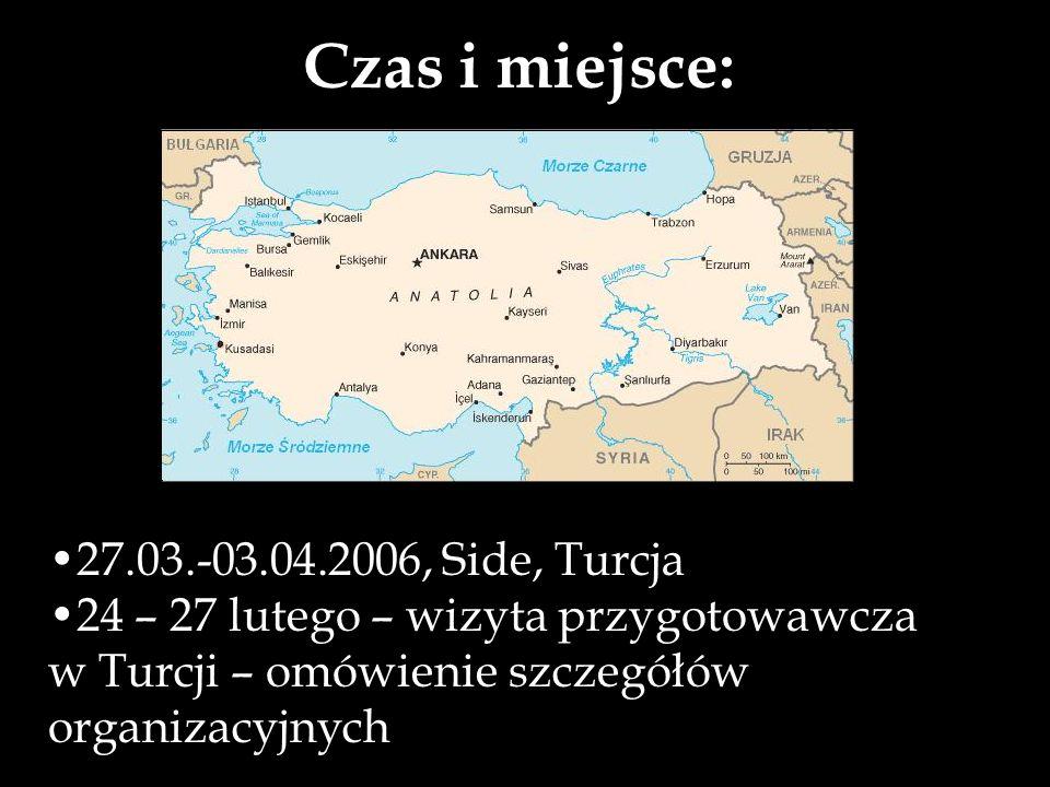 Czas i miejsce: 27.03.-03.04.2006, Side, Turcja