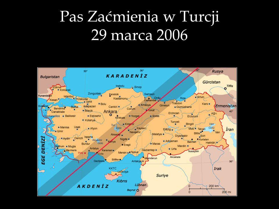 Pas Zaćmienia w Turcji 29 marca 2006