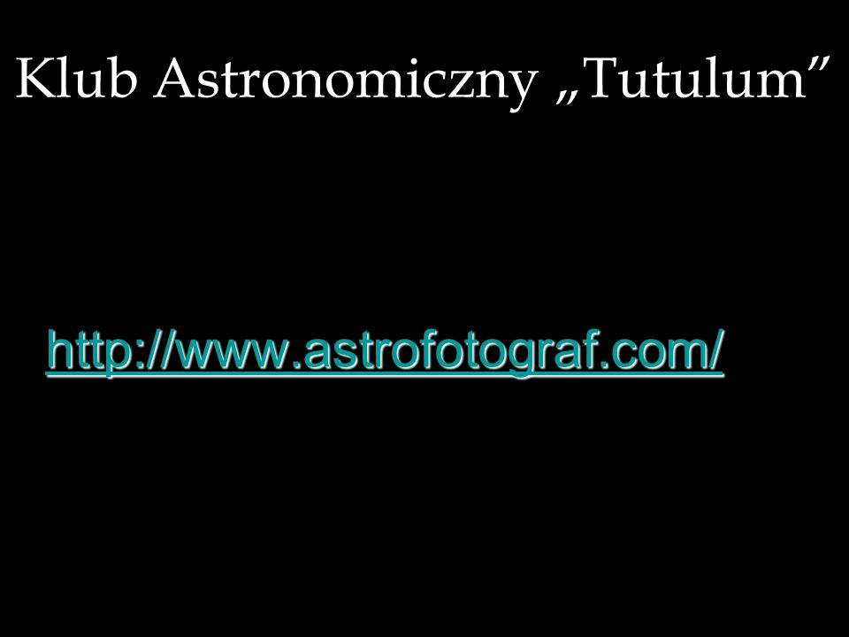 """Klub Astronomiczny """"Tutulum"""
