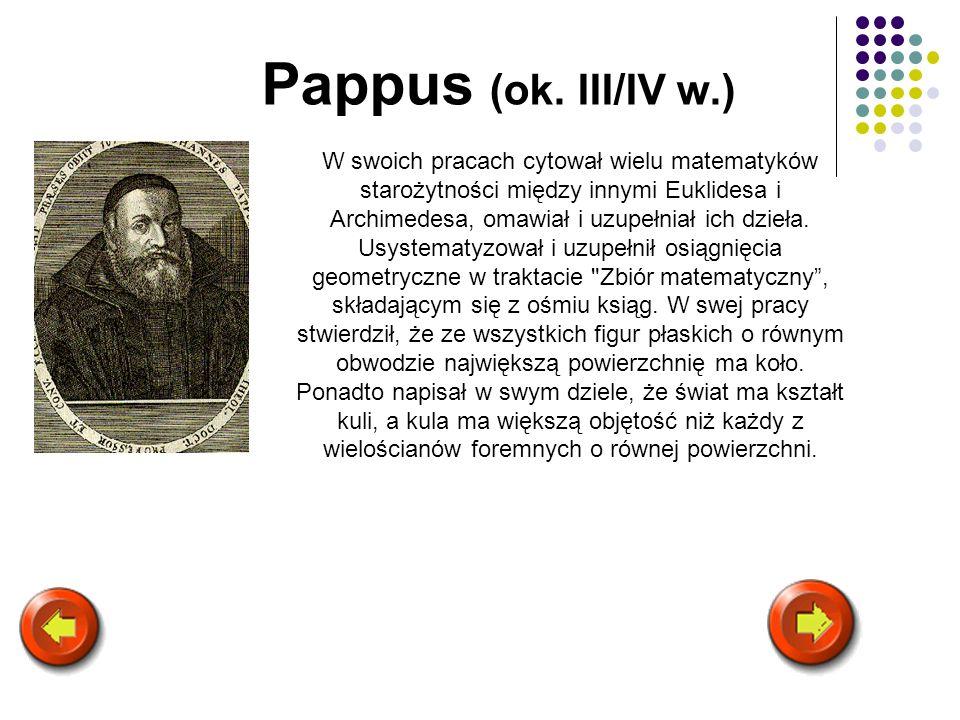 Pappus (ok. III/IV w.)
