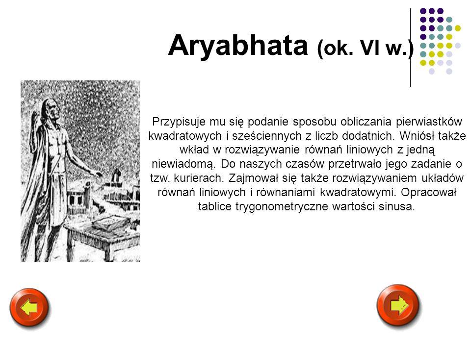 Aryabhata (ok. VI w.)