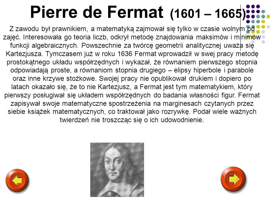 Pierre de Fermat (1601 – 1665)