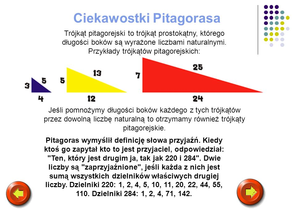 Ciekawostki Pitagorasa
