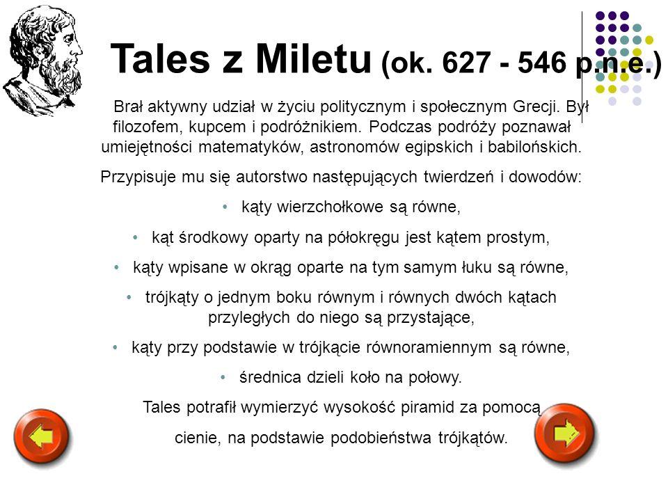 Tales z Miletu (ok. 627 - 546 p.n.e.)