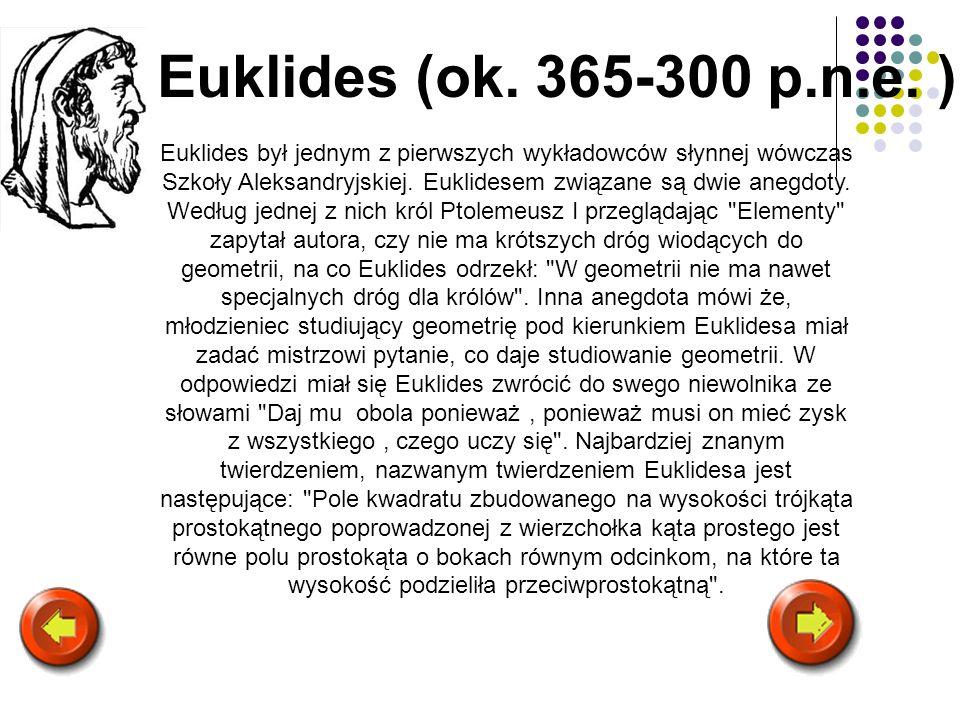Euklides (ok. 365-300 p.n.e. )