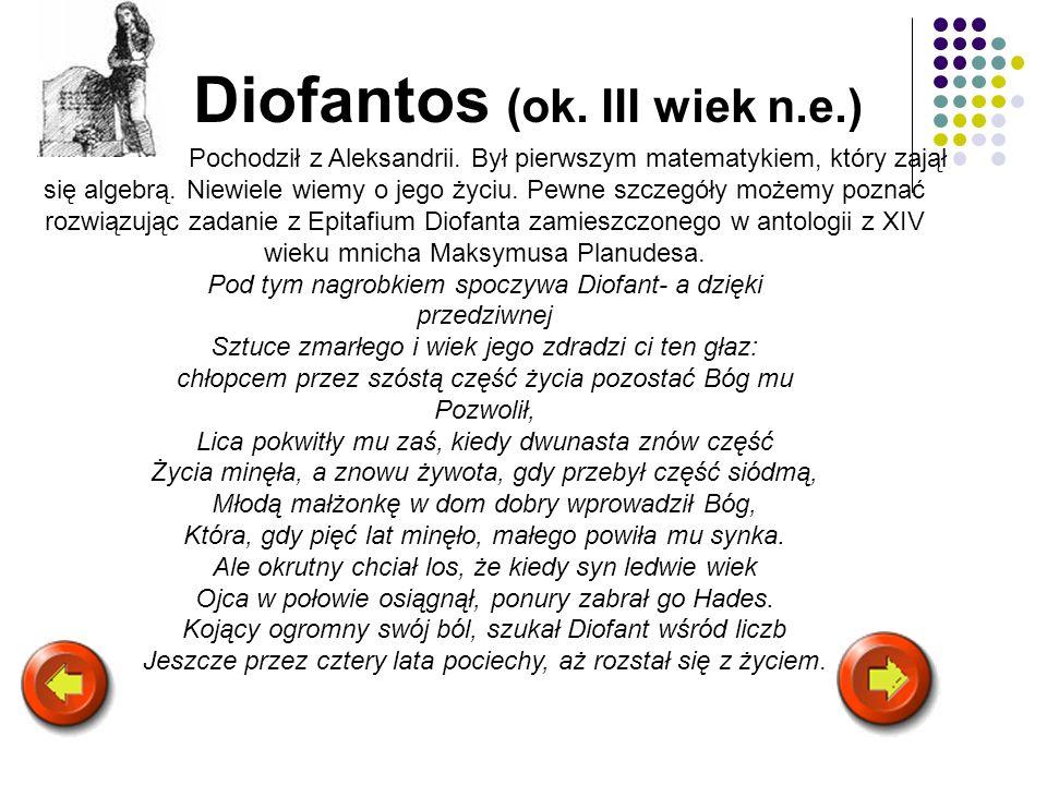 Diofantos (ok. III wiek n.e.)