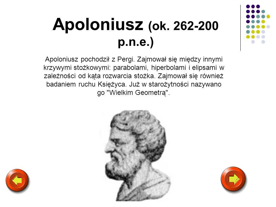 Apoloniusz (ok. 262-200 p.n.e.)