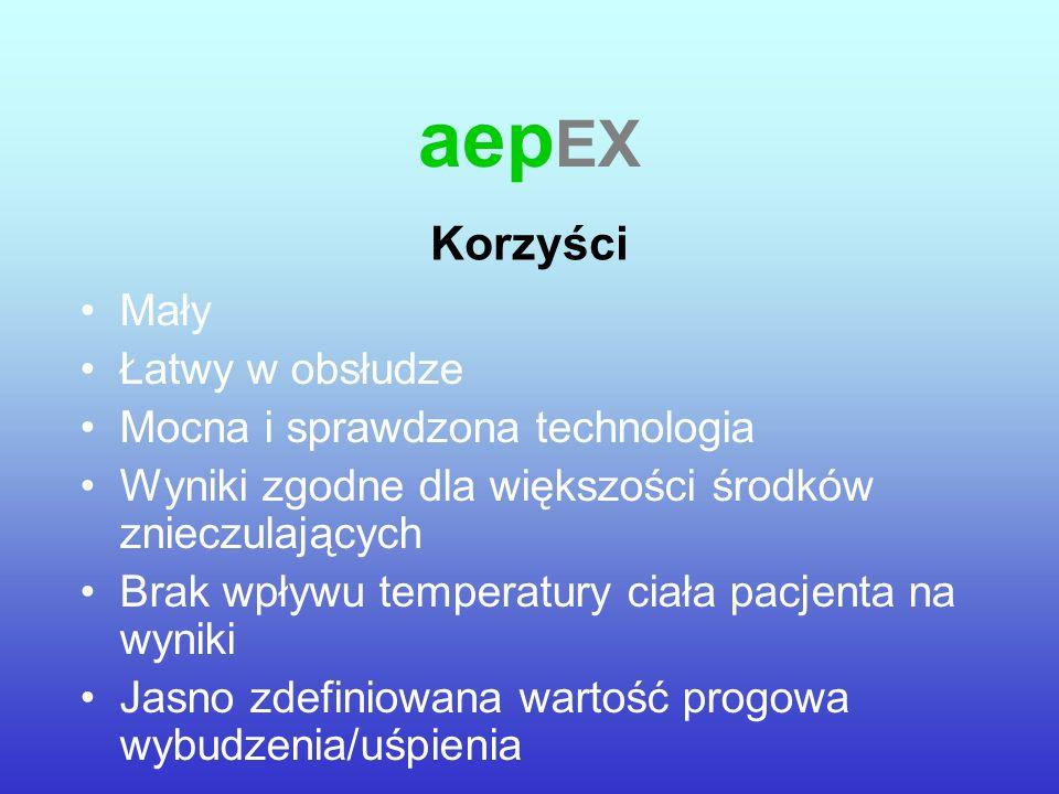 aepEX Korzyści Mały Łatwy w obsłudze Mocna i sprawdzona technologia