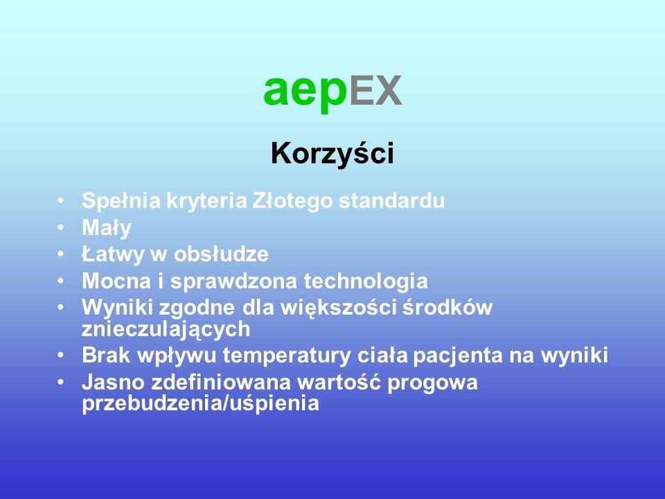 aepEX Korzyści Spełnia kryteria Złotego standardu Mały