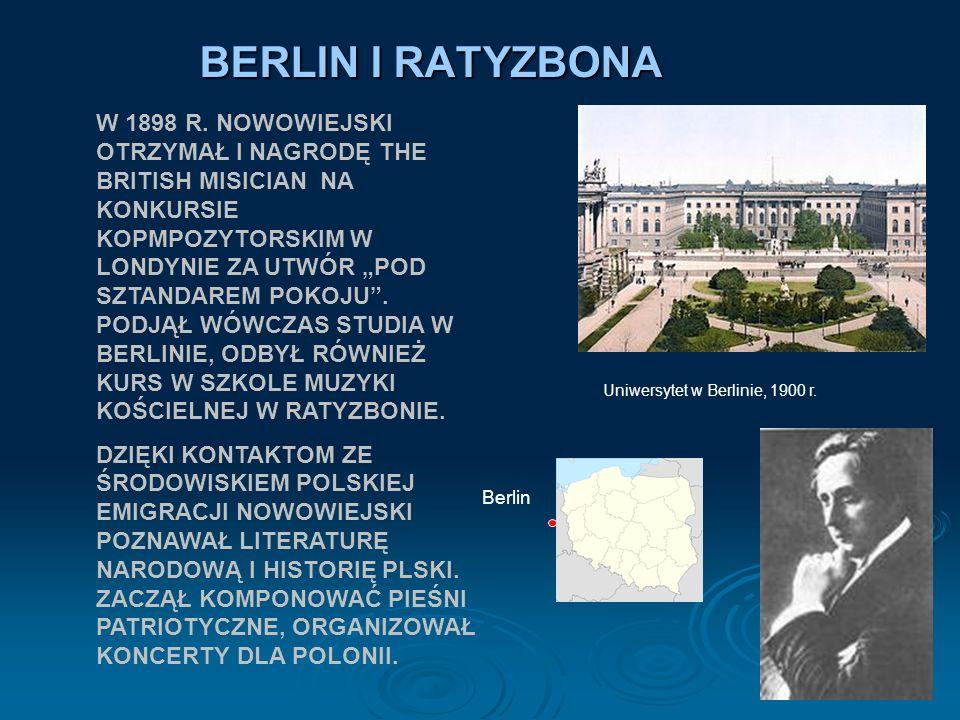 BERLIN I RATYZBONA