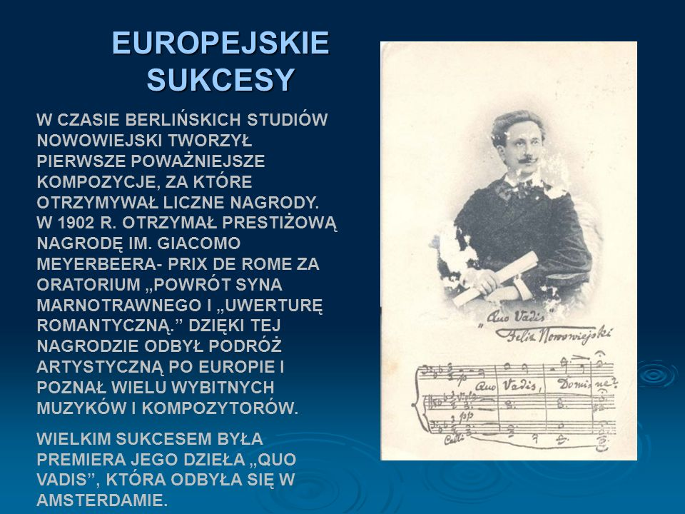 EUROPEJSKIE SUKCESY