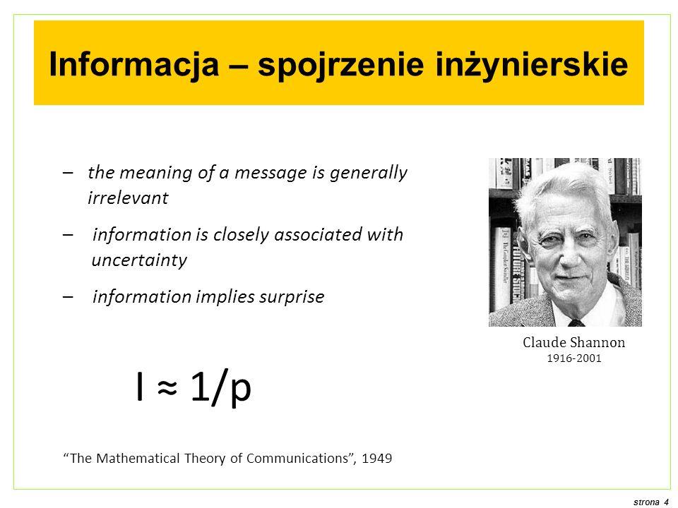 Informacja – spojrzenie inżynierskie