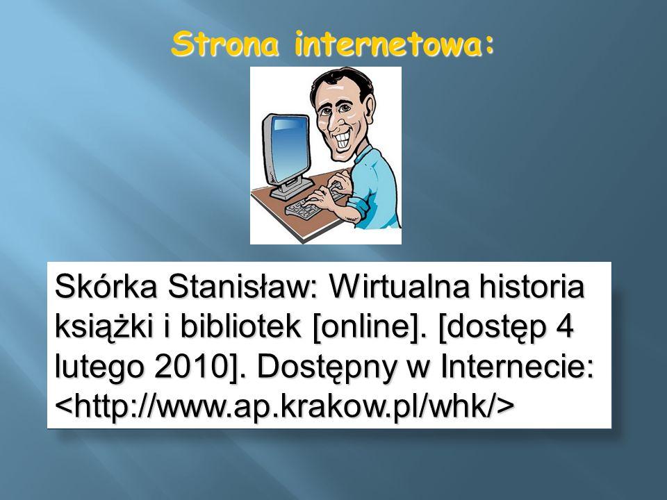 Strona internetowa:
