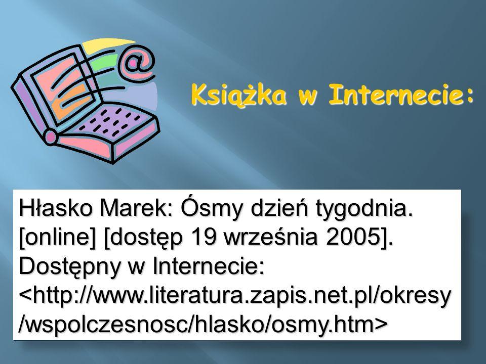 Książka w Internecie: