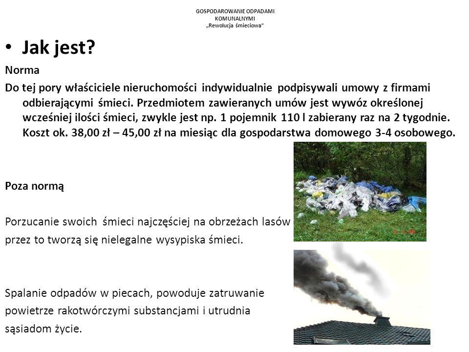 """GOSPODAROWANIE ODPADAMI KOMUNALNYMI """"Rewolucja śmieciowa"""