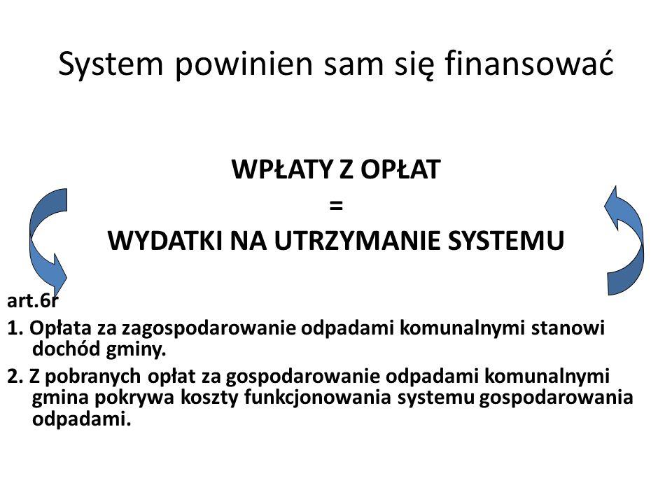 System powinien sam się finansować