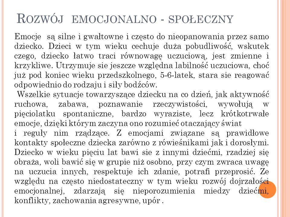Rozwój emocjonalno - społeczny