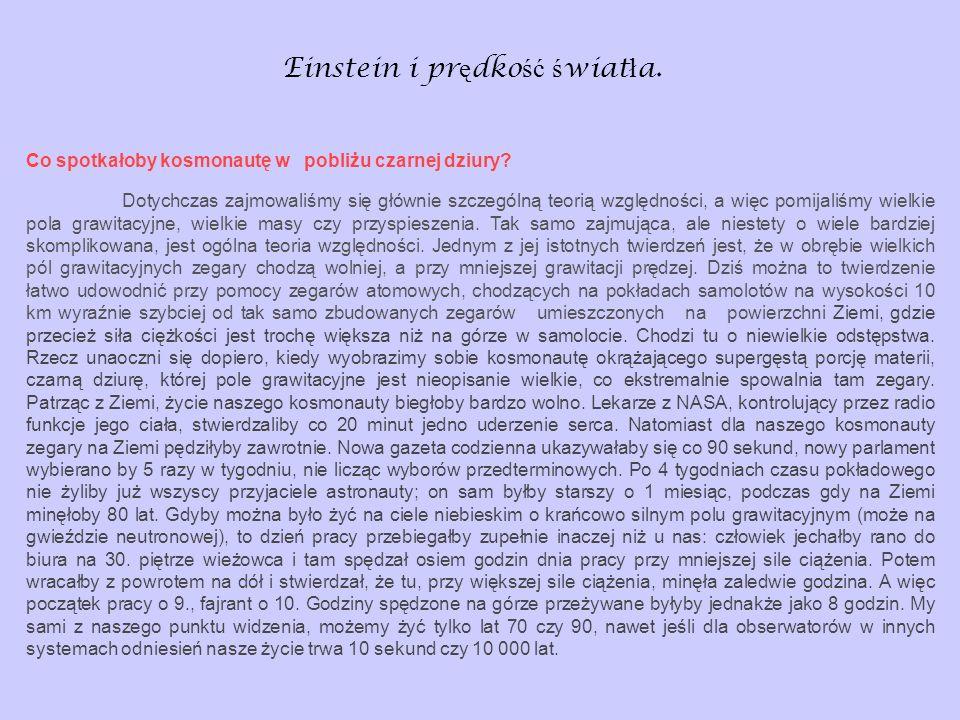 Einstein i prędkość światła.
