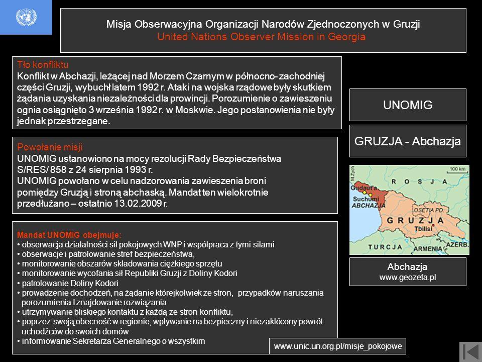 UNOMIG GRUZJA - Abchazja