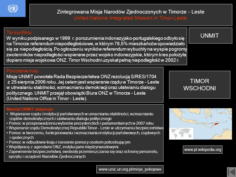 Zintegrowana Misja Narodów Zjednoczonych w Timorze - Leste