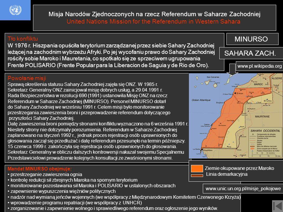 Misja Narodów Zjednoczonych na rzecz Referendum w Saharze Zachodniej