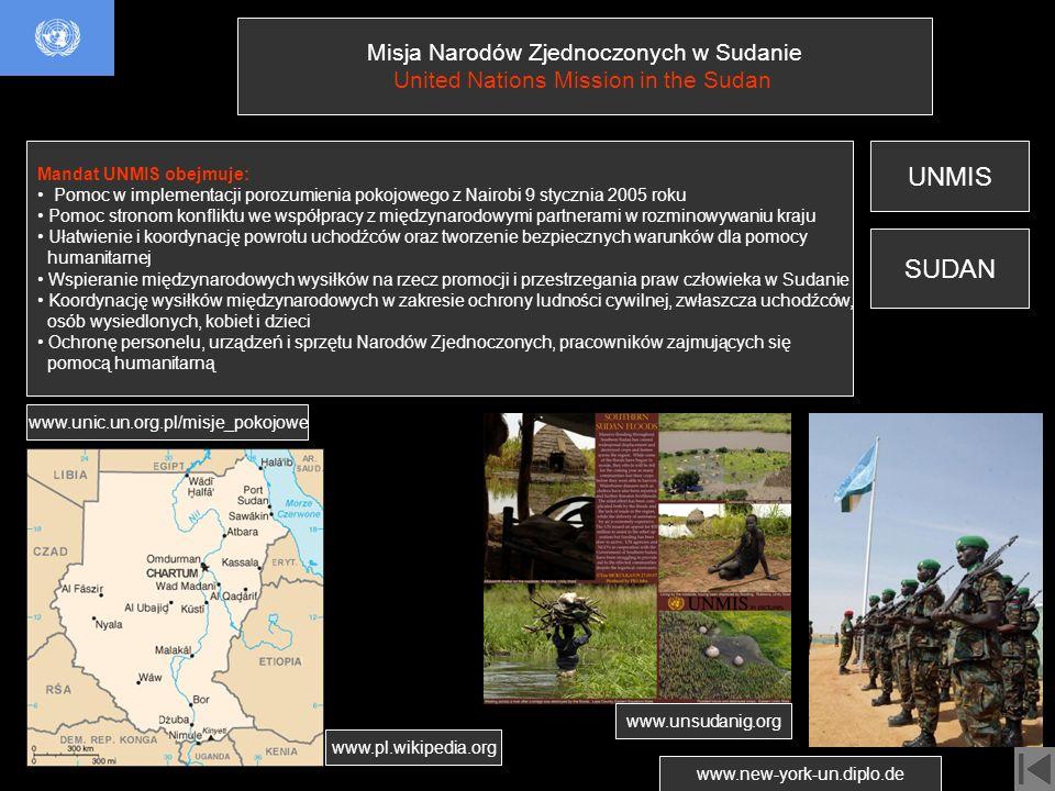 UNMIS SUDAN Misja Narodów Zjednoczonych w Sudanie