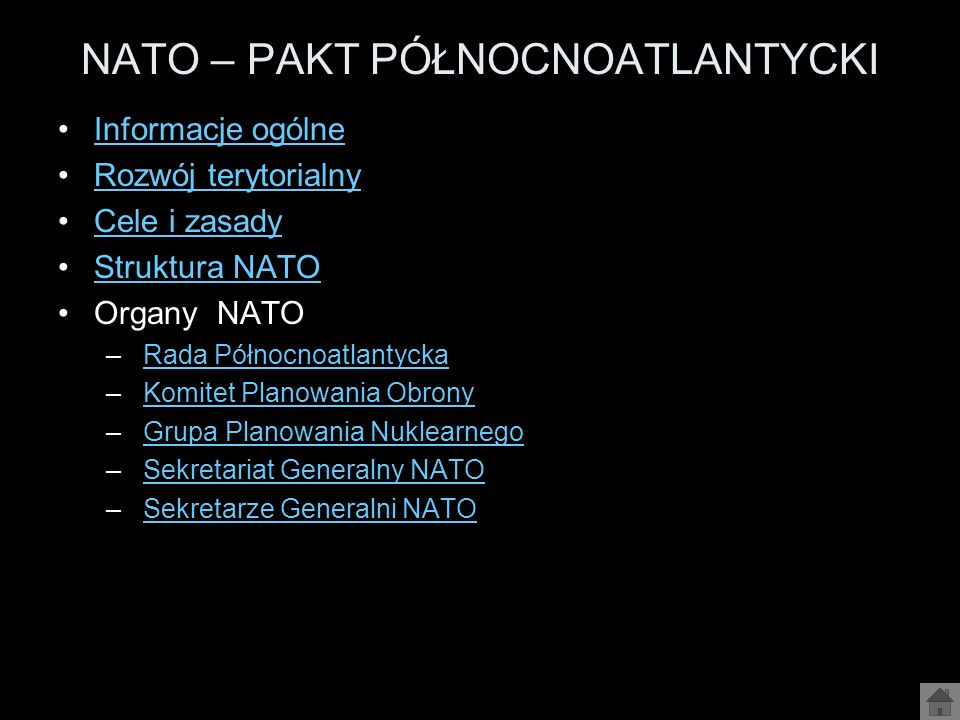 NATO – PAKT PÓŁNOCNOATLANTYCKI