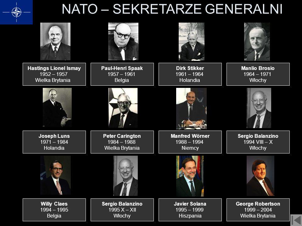 NATO – SEKRETARZE GENERALNI