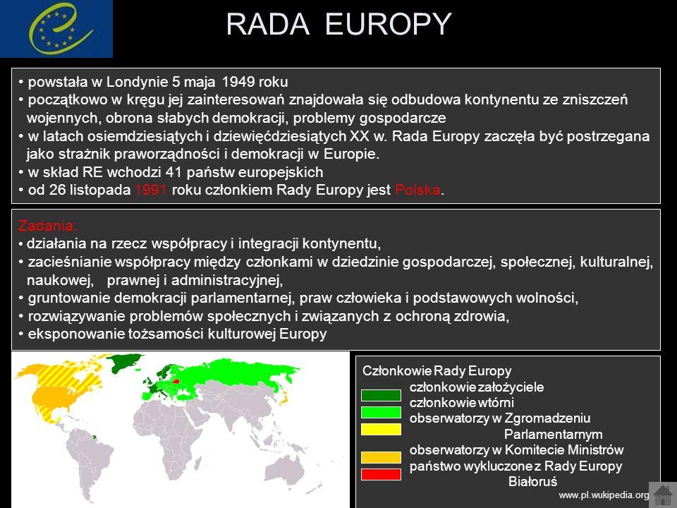 RADA EUROPY powstała w Londynie 5 maja 1949 roku
